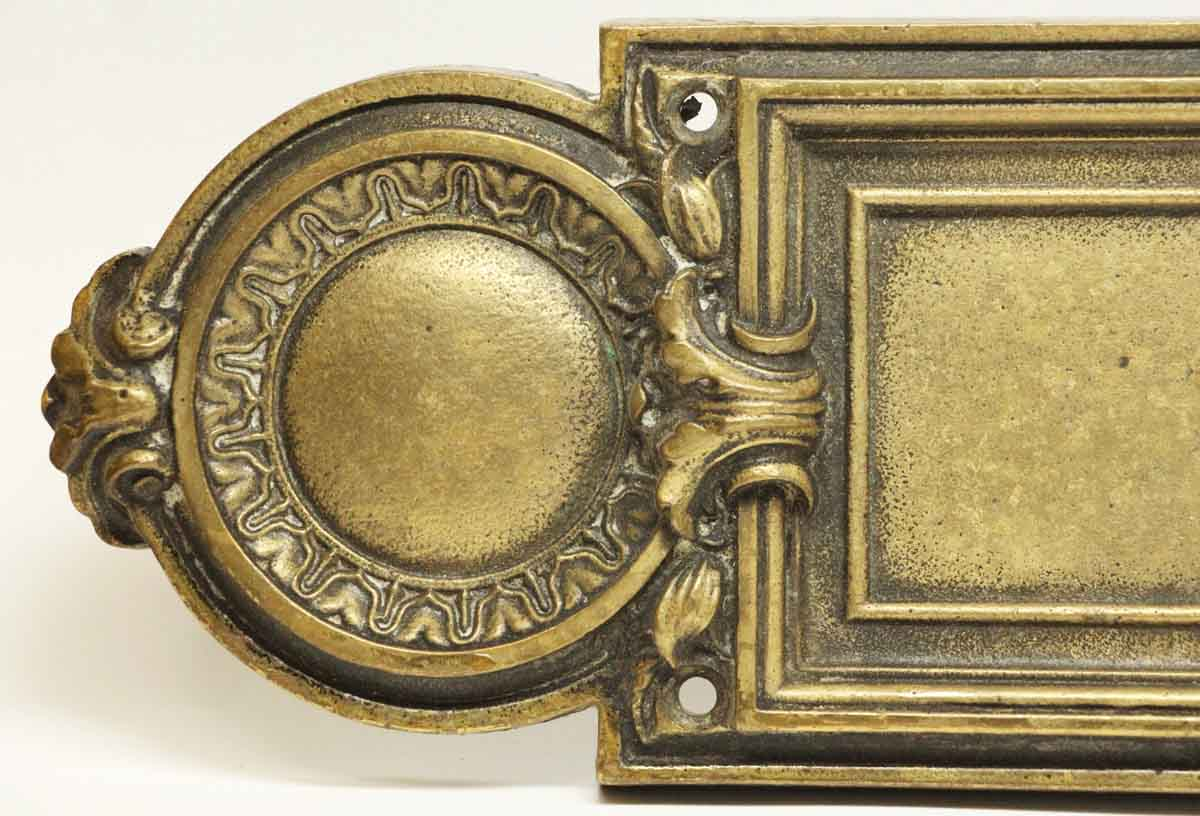 Push Plates - N252345 & Antique Victorian Bronze Push Plate | Olde Good Things