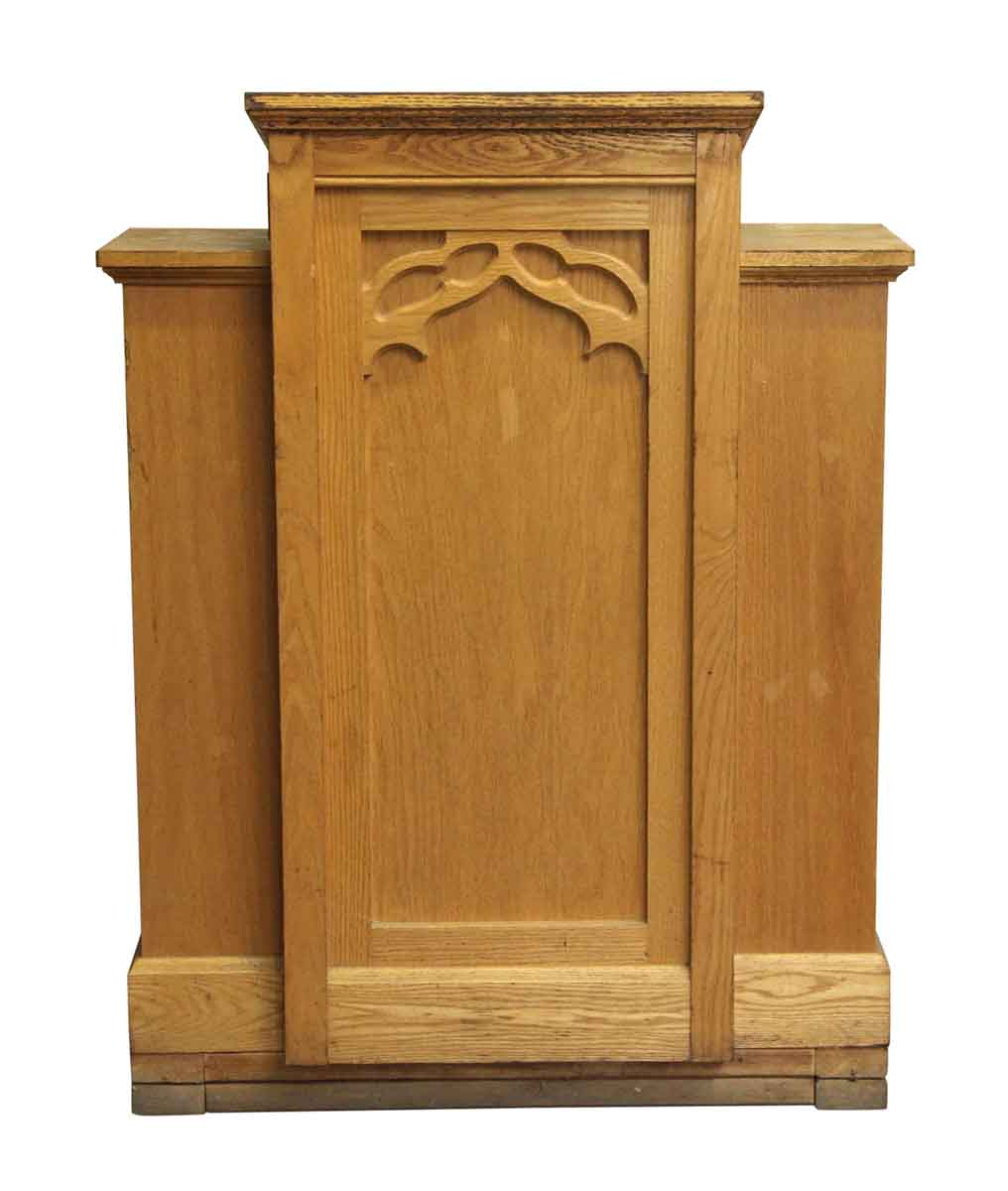 Religious Antiques - Antique Gothic Wooden Three Paneled Podium - Antique Gothic Wooden Three Paneled Podium Olde Good Things
