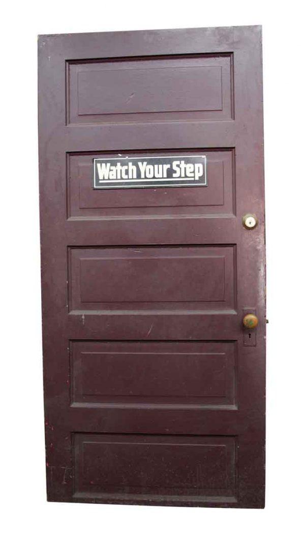 Standard Doors - Old 5 Panel Wooden Interior Door