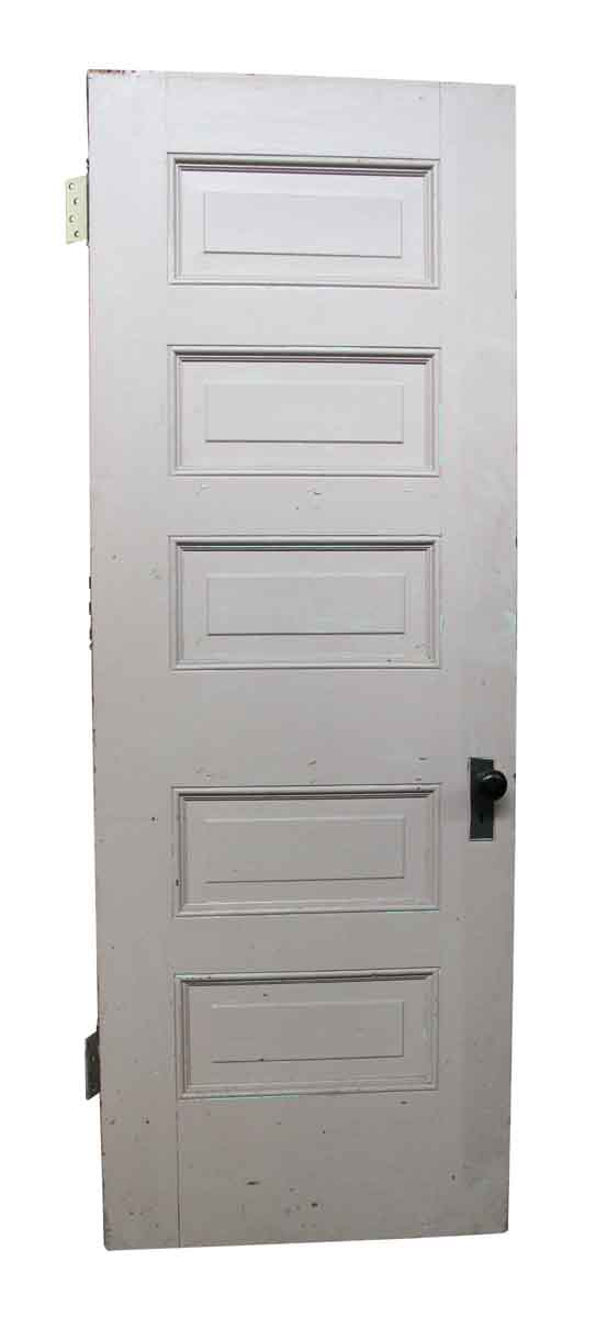 Standard Doors - Old Five Horizontal Panel Wooden Interior Door
