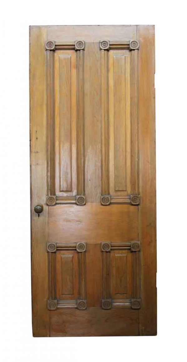 Standard Doors - Old Interior Wooden Door with Bulls Eye Details