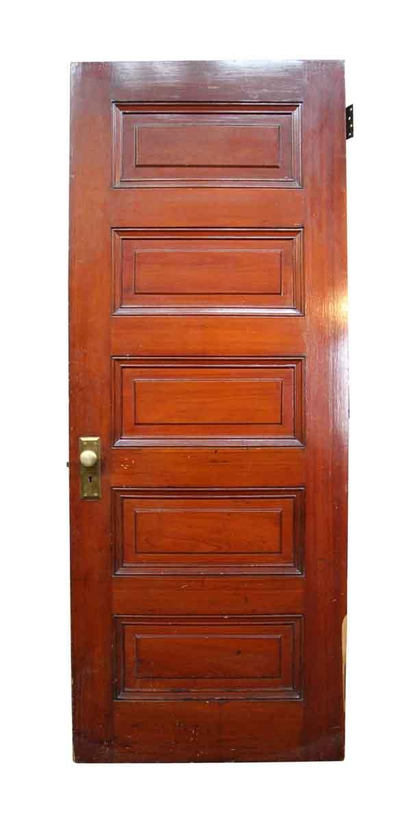 Vintage Wood Paneling: Old Wooden 5 Raised Panel Interior Door