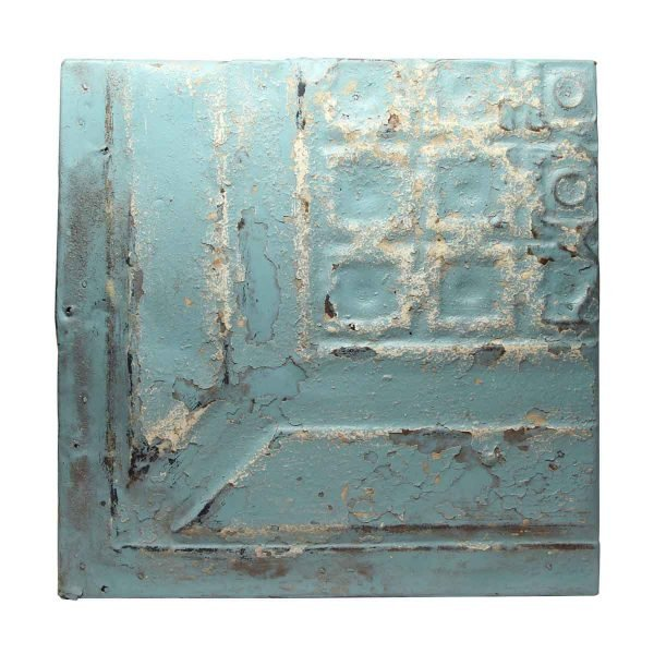 Tin Panels - Corner Blue Antique Tin Panel