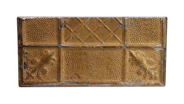Tin Panels - Handmade Textured Tan Antique Tin Panel