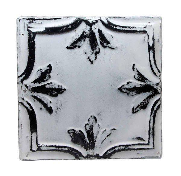 Tin Panels - Leaf Quadrant Black & White Tin Panel