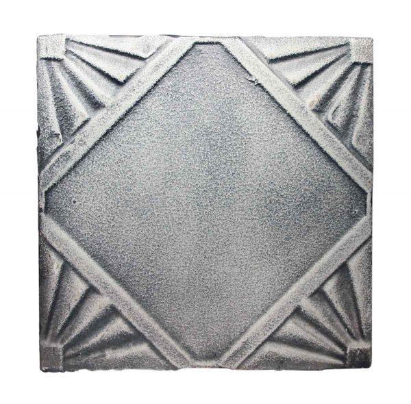 Tin Panels - White Over Black Art Deco Tin Panel