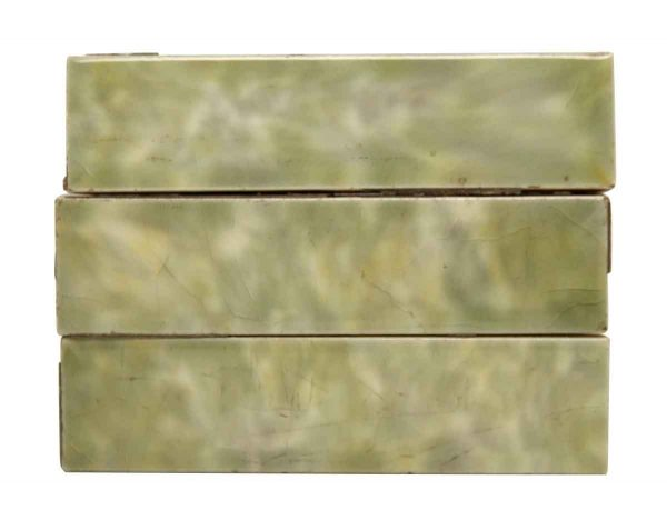 Wall Tiles - Set of Antique Light Mixed Greens Hearth Tiles