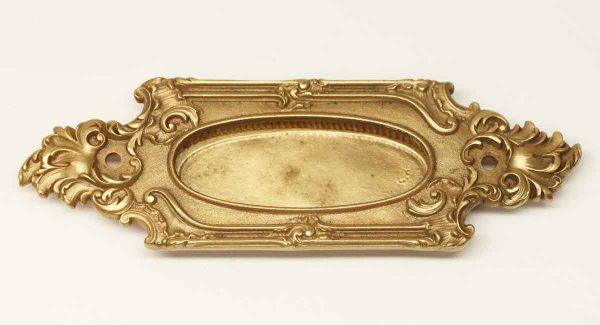 Window Hardware - Polished Bronze Art Nouveau Sash Lift