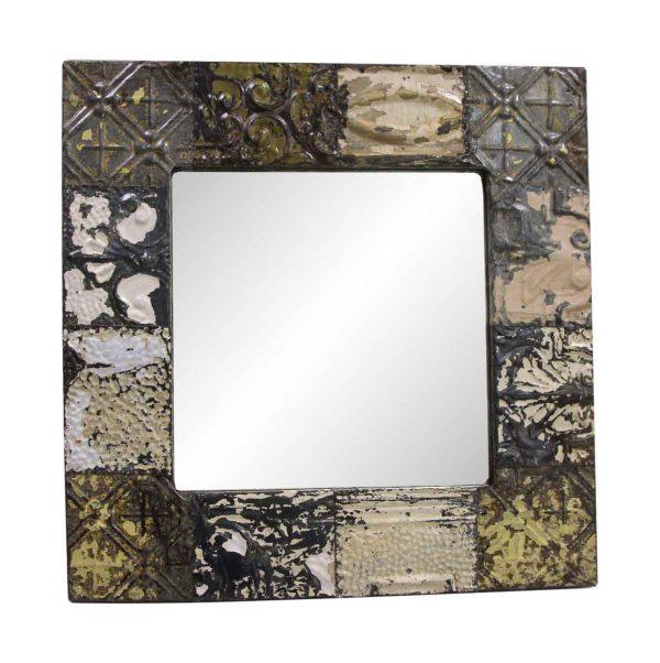 Antique Tin Mirrors - Antique Tin Mixed Patch Mirror