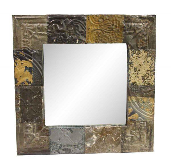 Antique Tin Mirrors - Handmade Antique Patch Tin Mirror
