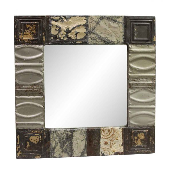 Antique Tin Mirrors - Handmade Antique Patched Tin Mirror