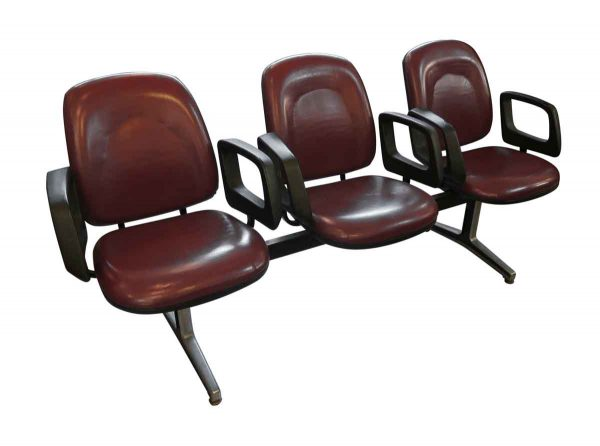 Commercial Furniture - 3 Seater Red Commercial Seating Unit