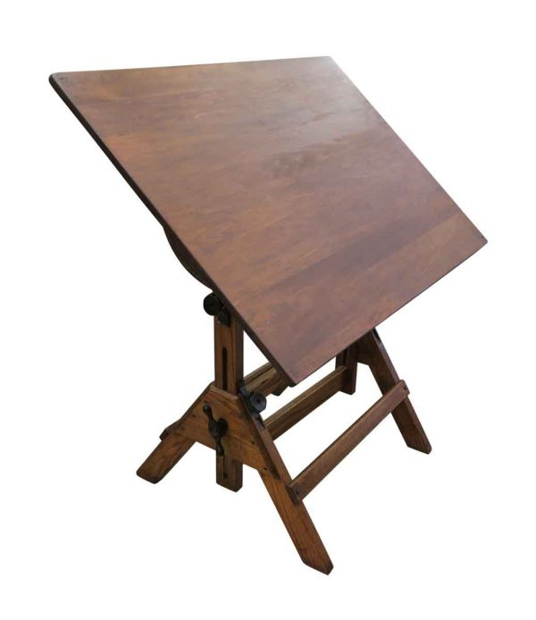 Drafting Tables - Antique Oak Drafting Table