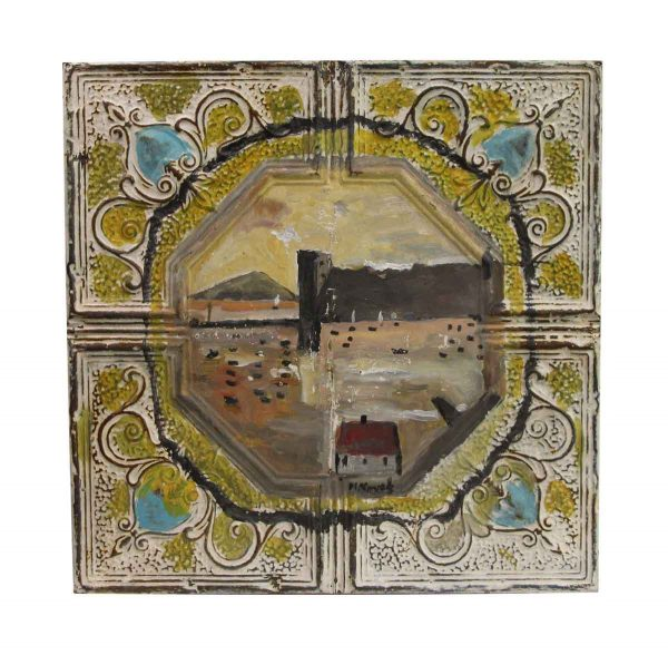 Hand Painted Panels - Hand Painted Scenic Novak Tin Painting