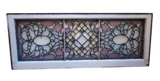 Antique Clear Lavender Stained Glass Window