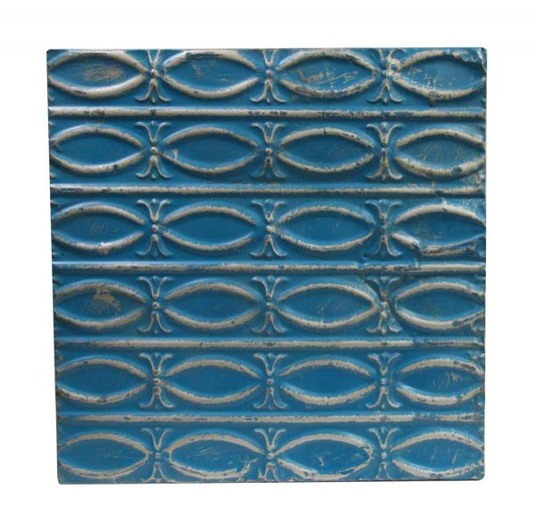 Tin Panels - Blue Fish Patterned Antique tin Panel