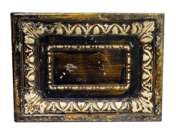 Tin Panels - Brown Cove Rectangle Antique Tin Panel