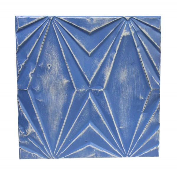 Tin Panels - Handmade Blue Art Deco Tin Panel