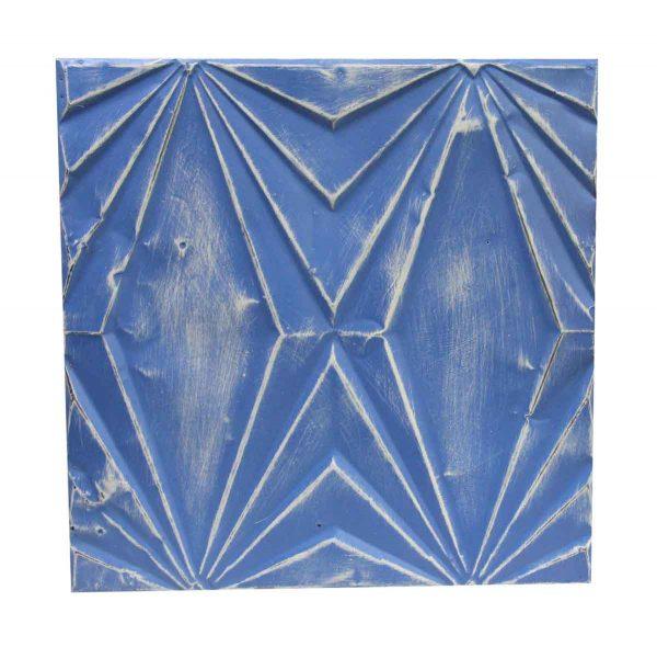 Tin Panels - Handmade Blue Art Deco Tin Panel