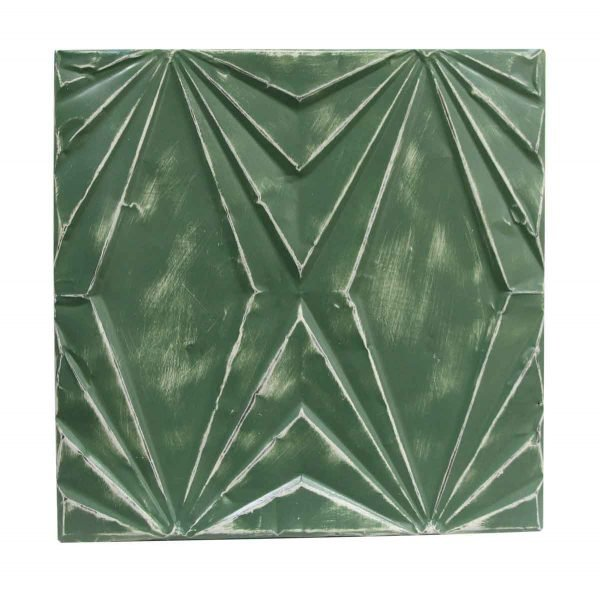 Tin Panels - Handmade Kelly Green Art Deco Tin Panel