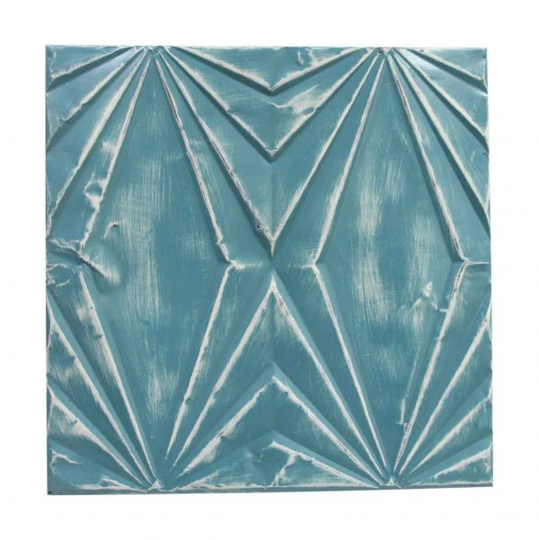 Tin Panels - Handmade Teal Blue Art Deco Tin Panel