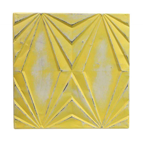 Tin Panels - Handmade Yellow Art Deco Tin Panel