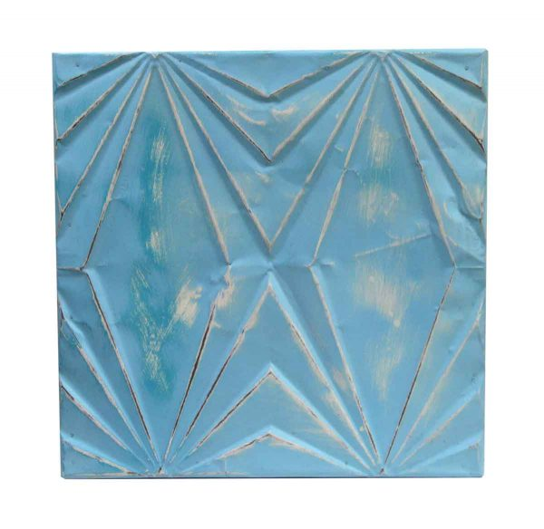 Tin Panels - Light Blue Art Deco Tin Panel