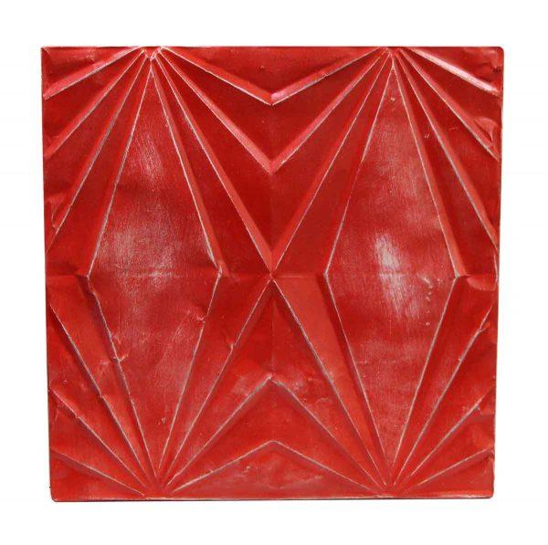 Tin Panels - Red Art Deco Antique Tin Panel