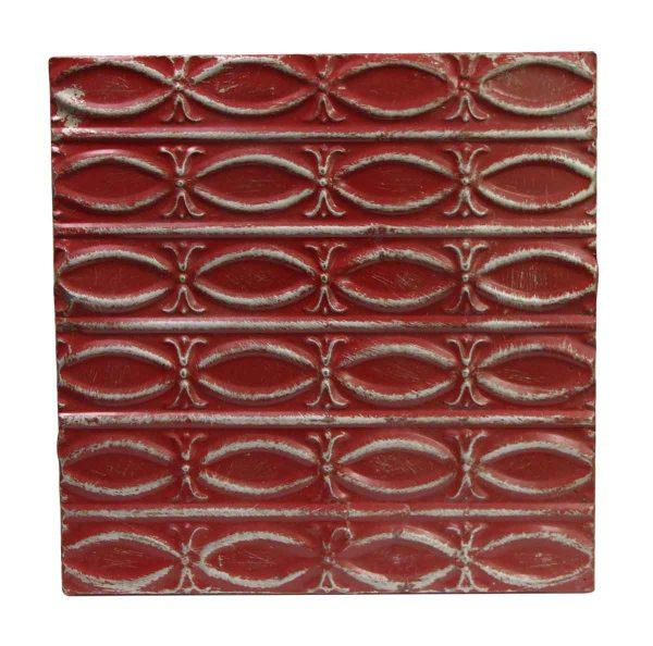 Tin Panels - Red Fish Pattern Antique Tin Panel