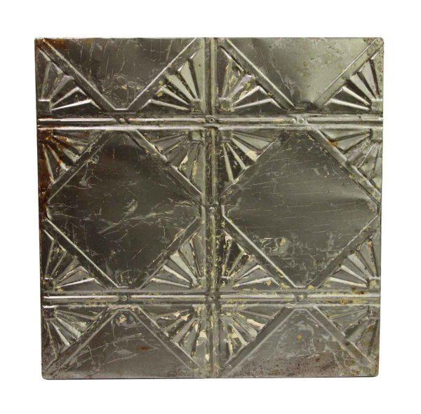 Tin Panels - Silver Square Art Deco Tin Panel