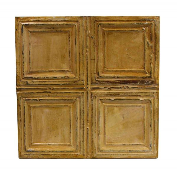 Tin Panels - Tan 4 Fold Square Antique Tin Panel