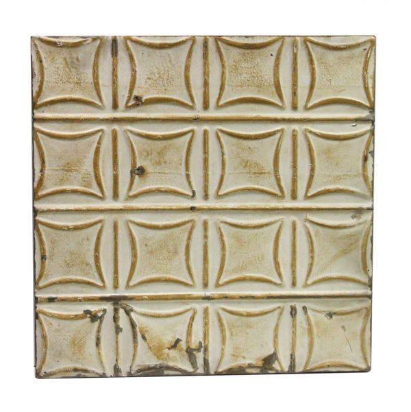 Tin Panels - Tan Curved Squares Antique Tin Panel