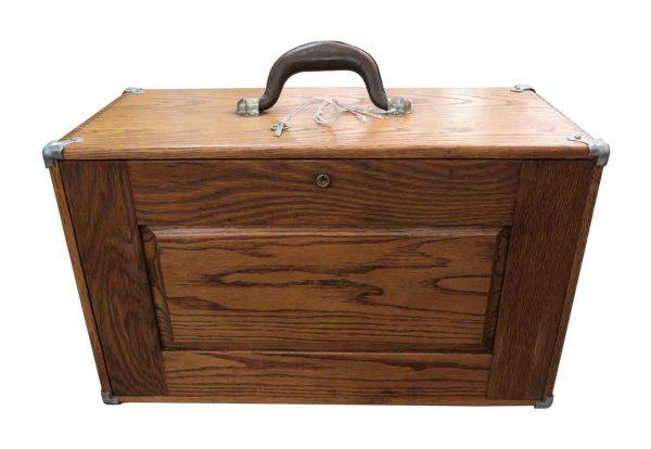 Tools - Antique Oak Tool Box with Key