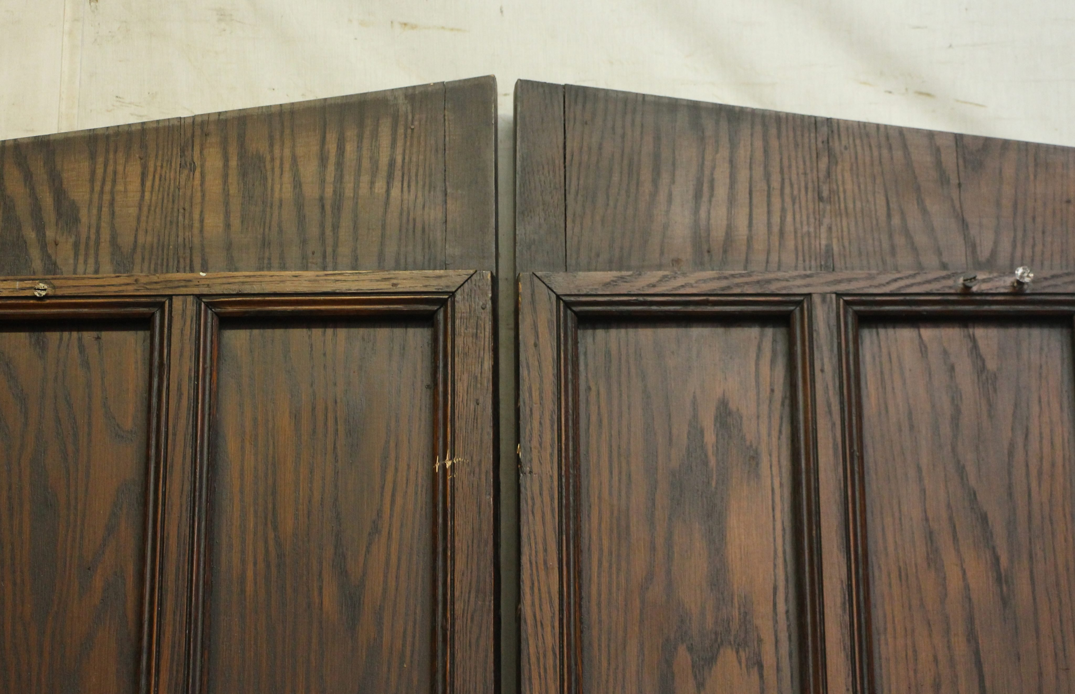 Double Entry Wine Cellar Doors With Gothic Arch Olde Good Things