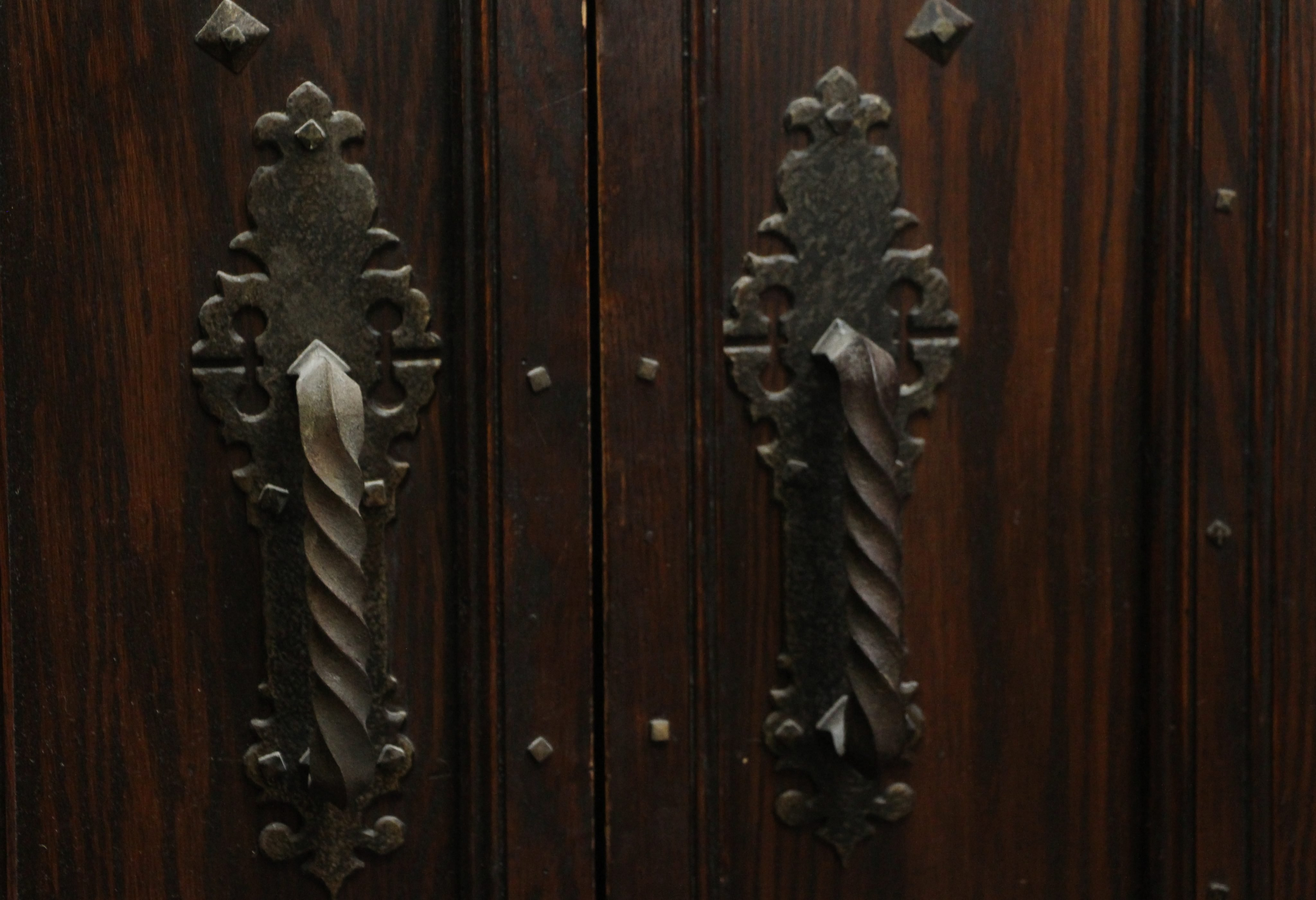 Double Entry Wine Cellar Doors With Gothic Arch Olde