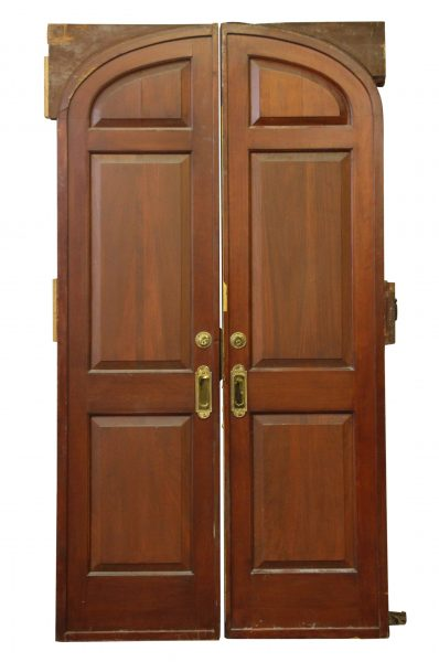 Arched Double Entry Mahogany Pocket Doors  sc 1 st  Olde Good Things & Antique Interior Doors | Olde Good Things
