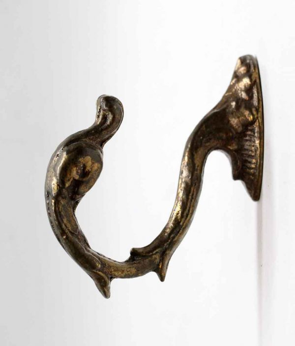 Curtain Hardware - Bronze Swan Curtain Tie Back Hook