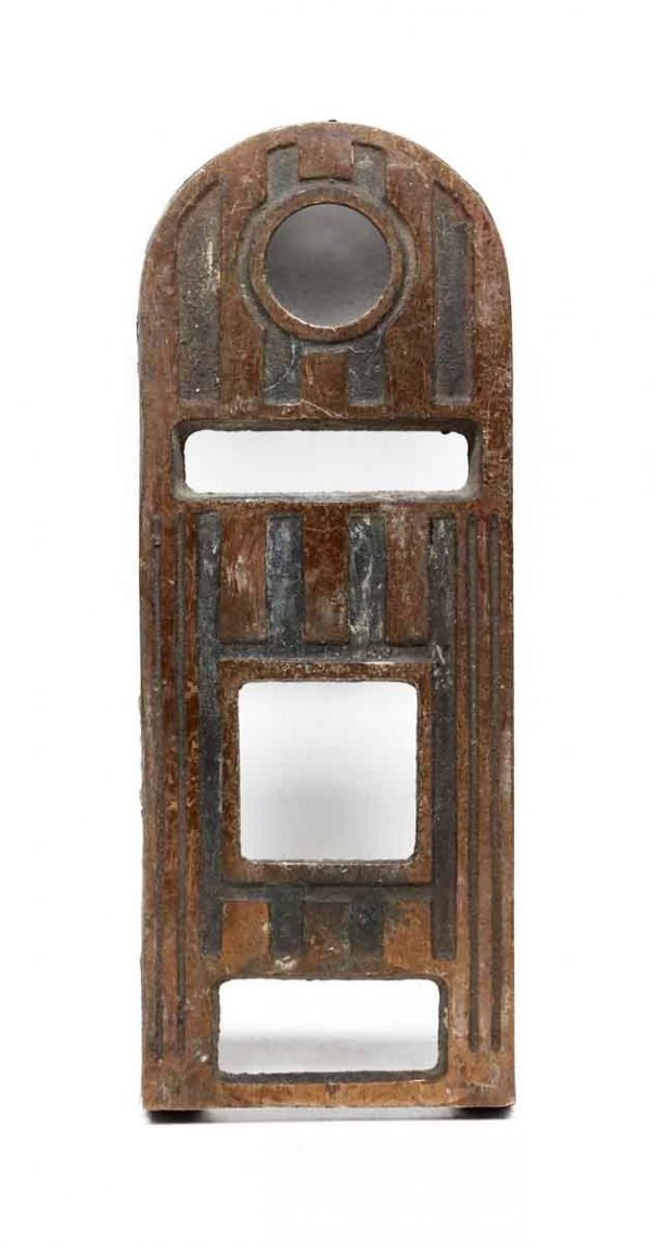 Elevator Hardware - Antique Bronze Art Deco Elevator Plate