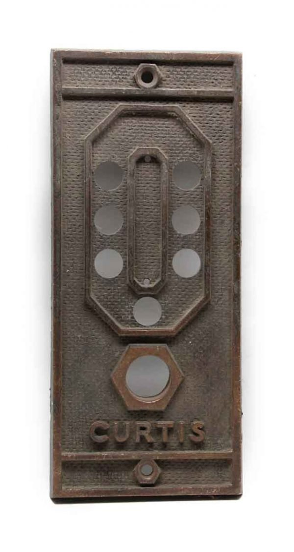 Elevator Hardware - Antique Bronze Curtis Elevator Cover Plate