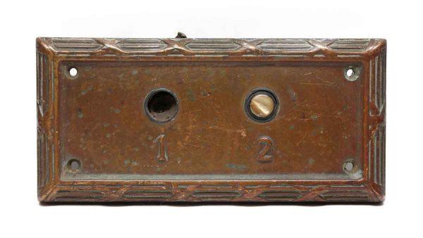 Elevator Hardware - Antique Cast Bronze Ornate Trimmed Elevator Plate