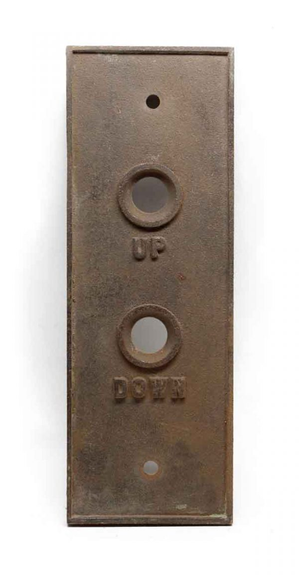 Elevator Hardware - Antique Classic Bronze Elevator Up & Down Plate