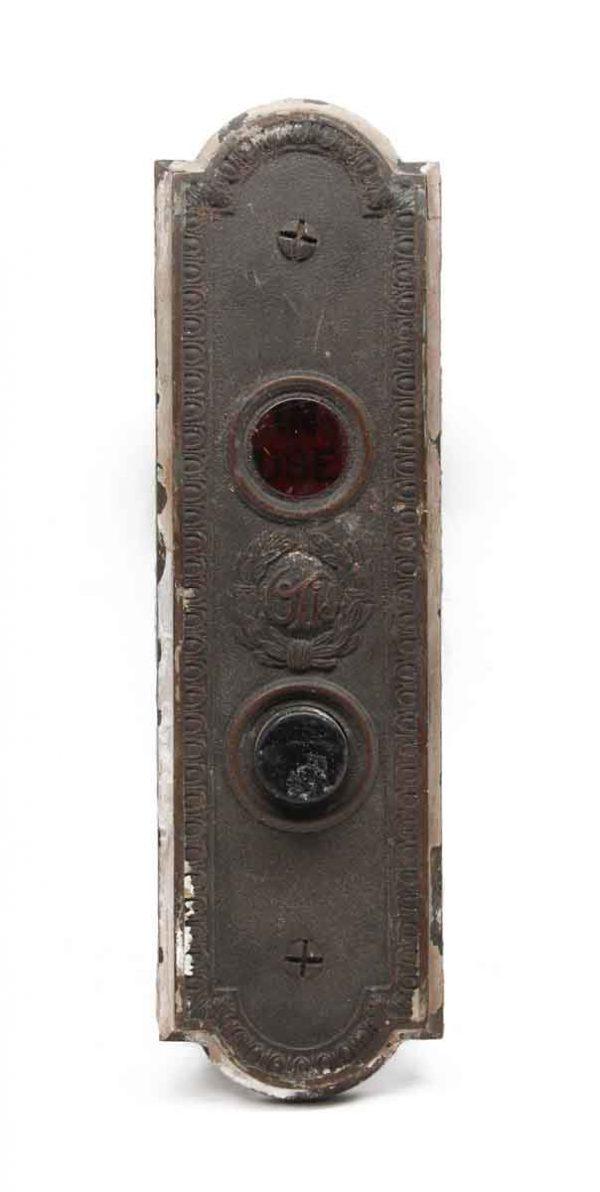 Elevator Hardware - Antique Otis In Use Bronze Elevator Plate