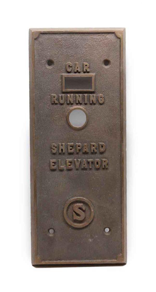 Elevator Hardware - Antique Shepard Bronze Elevator Cover Plate