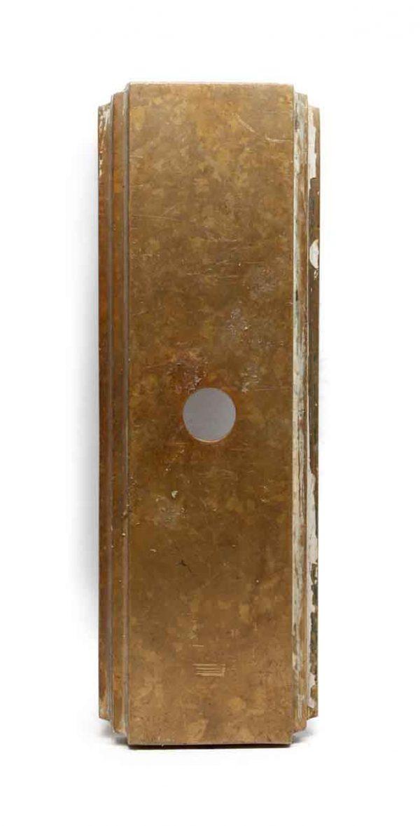 Elevator Hardware - Art Deco Bronze Bottom Floor One Button Elevator Plate