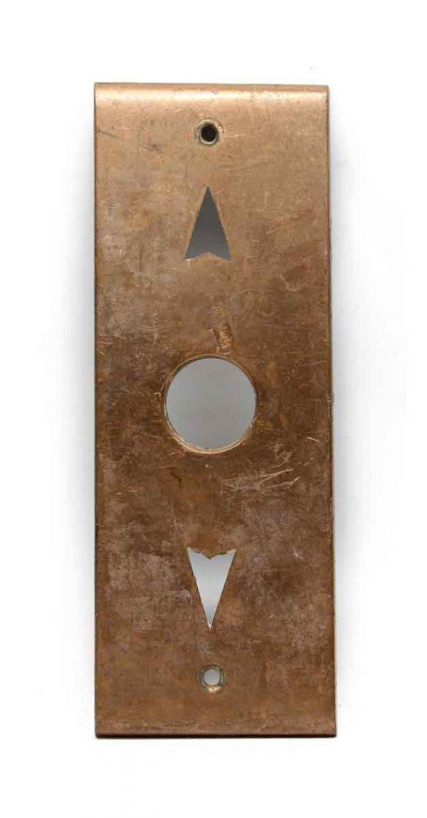 Elevator Hardware - Cast Brass Antique Elevator Plate