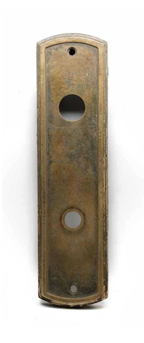 Elevator Hardware - Classic Vintage Bronze Ground Floor Elevator Plate