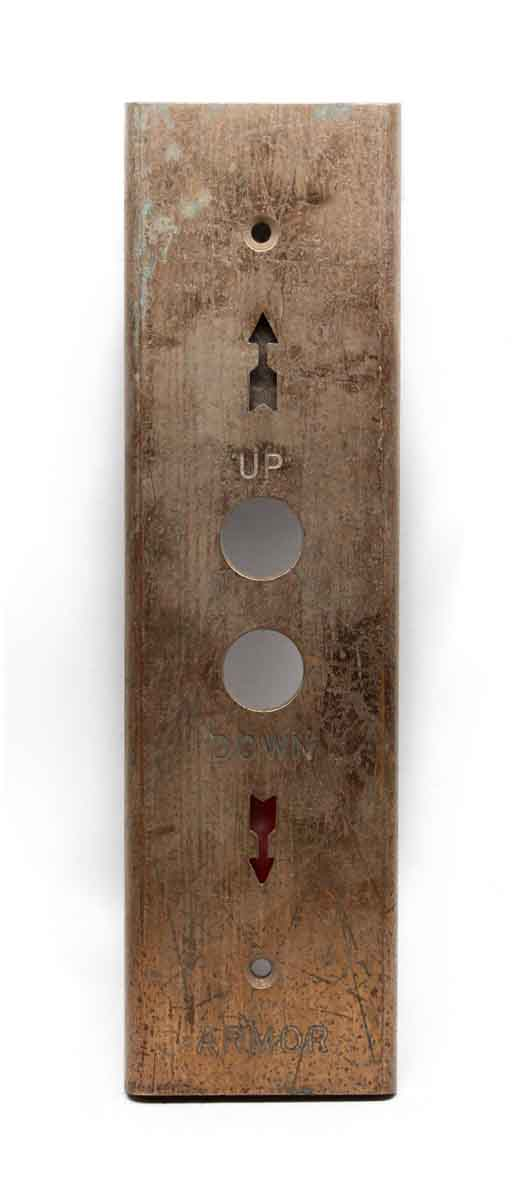 Elevator Hardware - Mid Century Armor Elevator Button Plate
