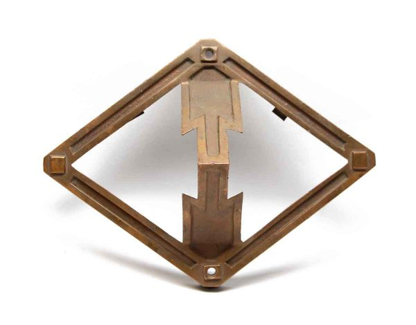 Elevator Hardware - Salvaged Bronze Arrow Elevator Plate Cover