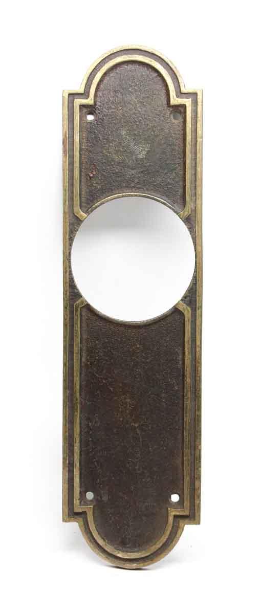 Elevator Hardware - Signed Bronze Schlage Art Deco Elevator Plate
