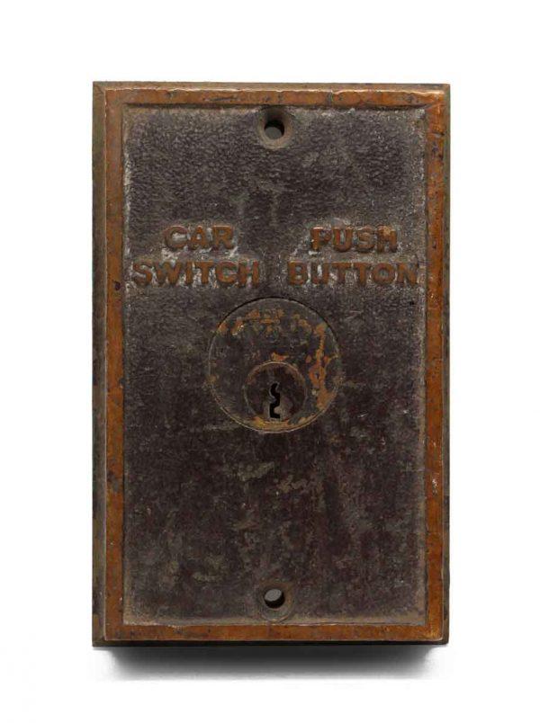 Elevator Hardware - Vintage Cast Bronze Elevator Plate